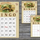Cigar party bingo card,Cigar theme bingo card,60 Printable bingo card--101
