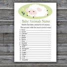 Lamb Baby Animal Names Game,Lamb Baby Shower Game,Baby Shower Game Printable -308