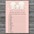 Elephant Baby Animal Names Game,Safari Baby Shower Game,Baby Shower Game Printable -306