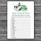 Panda Baby Animal Names Game,Panda Baby Shower Game,Baby Shower Game Printable -302