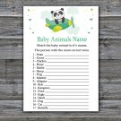 Panda Baby Animal Names Game,Panda Baby Shower Game,Baby Shower Game Printable -301