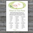 Lamb what's in your purse games,Sheep Baby Shower Game,Baby Shower Game Printable -308