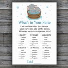 Elephant what's in your purse games,Safari Baby Shower Game,Baby Shower Game Printable -303