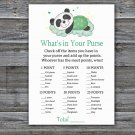Panda what's in your purse games,Panda Baby Shower Game,Baby Shower Game Printable -302