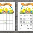 Happy easter bingo cards,Easter Bingo,Printable Easter Games,60 Printable bingo card--012