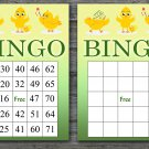 Happy easter bingo cards,easter chick bingo cards,Easter Bingo,60 Printable bingo card--014