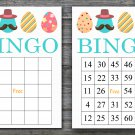 Happy easter bingo cards,easter egg bingo cards,Easter Bingo,60 Printable bingo card--015