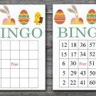 Happy easter bingo cards,easter egg bingo cards,Easter Bingo,60 Printable bingo card--016