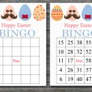 Happy easter bingo cards,easter egg bingo cards,Easter Bingo,60 Printable bingo card--017