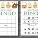 Happy easter bingo cards,easter egg bingo cards,Easter Bingo,60 Printable bingo card--018