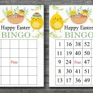Happy easter bingo cards,easter chick bingo cards,Easter Bingo,60 Printable bingo card--019