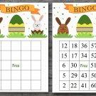 Happy easter bingo cards,easter bunny bingo cards,Easter Bingo,60 Printable bingo card--020