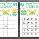 Happy easter bingo cards,easter egg bingo cards,Easter Bingo,60 Printable bingo card--021