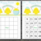 Happy easter bingo cards,easter chick bingo cards,Easter Bingo,60 Printable bingo card--022