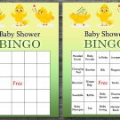 Happy easter baby shower bingo cards,easter chick baby shower bingo cards,Easter baby shower--132