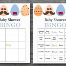 Happy easter baby shower bingo cards,easter egg baby shower bingo cards,Easter baby shower--134
