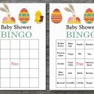 Happy easter baby shower bingo cards,easter egg baby shower bingo cards,Easter baby shower--135