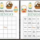 Happy easter baby shower bingo cards,easter egg baby shower bingo cards,Easter baby shower--136