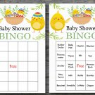 Happy easter baby shower bingo cards,easter chick baby shower bingo cards,Easter baby shower--137