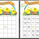 Happy easter baby shower bingo cards,easter chick baby shower bingo cards,Easter baby shower--139