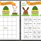 Happy easter baby shower bingo cards,easter bunny baby shower bingo cards,Easter baby shower--140