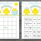 Happy easter baby shower bingo cards,easter chick baby shower bingo cards,Easter baby shower--142