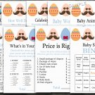 Happy easter baby shower games package,easter egg baby shower games pack,9 Printable games--134