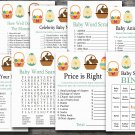 Easter rabbit baby shower games package,easter egg baby shower games pack,9 Printable games--136
