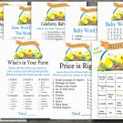 Happy easter baby shower games package,easter chick baby shower games pack,9 Printable games--139