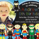 Superheroes birthday invitation,Superheroes birthday invite,Superheroes thank you card FREE--004