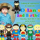 Superheroes birthday invitation,Superheroes birthday invite,Superheroes thank you card FREE--006