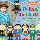 Superheroes birthday invitation,Superheroes birthday invite,Superheroes thank you card FREE--007