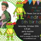 Ninja turtles invitation,Ninja turtles birthday invite,Ninja turtles thank you card FREE--008