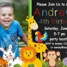 Safari animals birthday invitation,Safari animals invite,Safari animals thank you card FREE--024