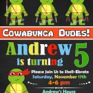 Ninja turtles invitation,Ninja turtles birthday invite,Ninja turtles thank you card FREE--083