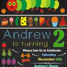 Very hungry caterpillar invitation,Very hungry invite,Very hungry thank you card FREE--085