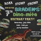 Dinosaur birthay invitation,Dinosaur birthay invite,Dinosaur thank you card FREE--087