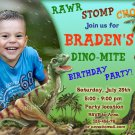 Dinosaur birthay invitation,Dinosaur birthay invite,Dinosaur thank you card FREE--089