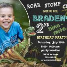 Dinosaur birthay invitation,Dinosaur birthay invite,Dinosaur thank you card FREE--090