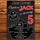 Pirate birthay invitation,Pirate birthay invite,Pirate thank you card FREE--097