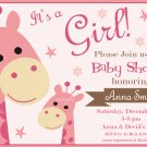 Giraffe baby shower invitation,Safari baby shower invite,Giraffe baby shower printable invite--099