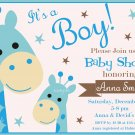 Giraffe baby shower invitation,Safari baby shower invite,Giraffe baby shower printable invite--100