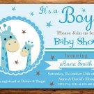 Blue Giraffe baby shower invitation,Blue Giraffe baby shower invite,Safari printable invite--106