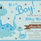 Blue Dinosaur baby shower invitation,Blue Dinosaur baby shower invite,Dinosaur printable invite--110