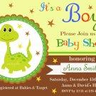 Dinosaur baby shower invitation,Dinosaur baby shower invite,Dinosaur printable invite--111