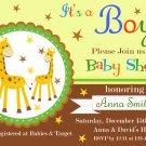 Giraffe baby shower invitation,Safari baby shower invite,Giraffe printable invite--112