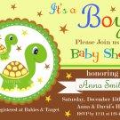 Turtle baby shower invitation,Turtle baby shower invite,Turtle printable invite--114