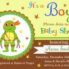 Ninja Turtles baby shower invitation,Ninja Turtles baby shower invite,Ninja Turtles invite--115
