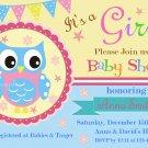 Owl baby shower invitation,Owl baby shower invite,Owl printable invitation--116