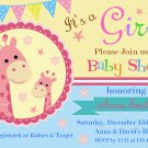 Giraffe baby shower invitation,Safari baby shower invite,Giraffe baby shower printable invite--117